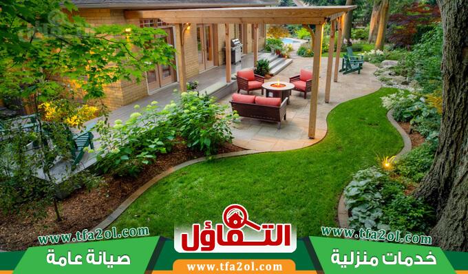 شركة تنسيق حدائق بالقطيف وتركيب العشب الصناعي والشلالات والنوافير وتكريب النخيل وقص اشجار